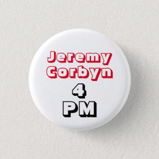 """""""ジェレミーCorbyn 4 PM"""" (総理大臣)ボタンのバッジ 3.2cm 丸型バッジ"""