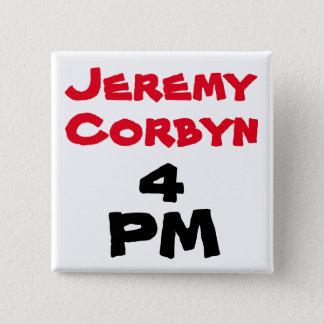 """""""ジェレミーCorbyn 4 PM"""" (総理大臣)ボタンのバッジ 5.1cm 正方形バッジ"""