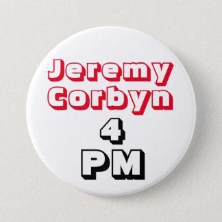 """""""ジェレミーCorbyn 4 PM"""" (総理大臣)ボタンのバッジ 7.6cm 丸型バッジ"""