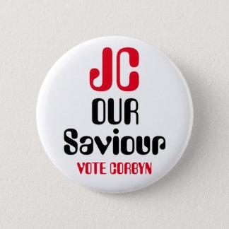 """ジェレミーCorbyn """"JC私達の救助者""""ボタンのバッジ 5.7cm 丸型バッジ"""