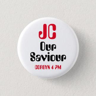 """ジェレミーCorbyn """"JC私達の救助者- 4 PM""""ボタンのバッジ 3.2cm 丸型バッジ"""