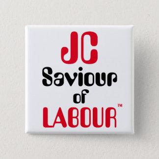 """ジェレミーCorbyn """"Labour™ボタンのバッジのJCの救助者 5.1cm 正方形バッジ"""