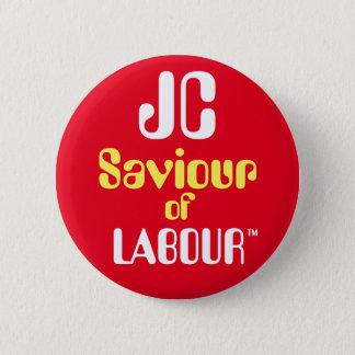 """ジェレミーCorbyn """"Labour™ボタンのバッジのJCの救助者 5.7cm 丸型バッジ"""
