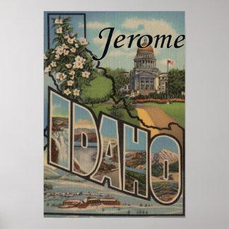ジェロームのIdahoLargeの手紙ScenesJerome、ID ポスター
