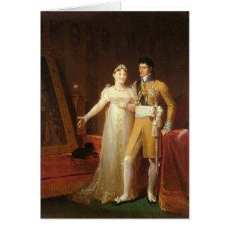 ジェロームBonaparteおよび彼の妻のポートレート カード