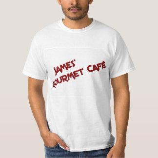 ジェームスのグルメ向きのCaféのTシャツ Tシャツ