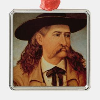 ジェームスの執事「野生のビル」Hickok (1837-76年) 1874年(oi メタルオーナメント