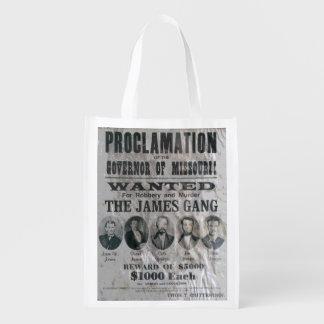 ジェームスの集団はポスターがほしいと思いました エコバッグ