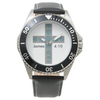 ジェームスの4:10のカスタムな十字の腕時計 腕時計