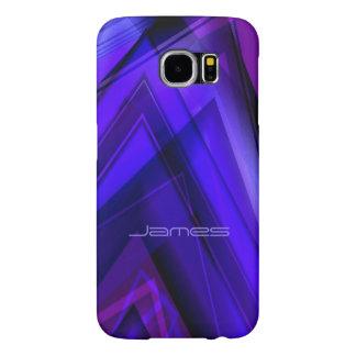 ジェームスのSmartphoneの紫色および青の箱 Samsung Galaxy S6 ケース
