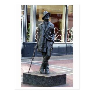 ジェームスジョイス、アイルランド語は彫刻、ダブリン都市を書きます ポストカード