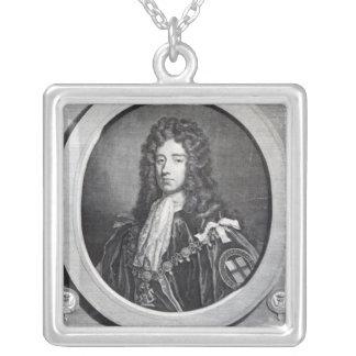 、ジェームスダグラスQueensberryの第2公爵、 シルバープレートネックレス