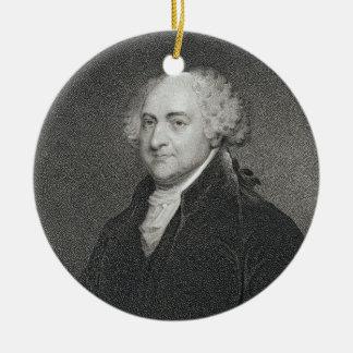 ジェームスバートンLongacre (179著刻まれるジョン・アダムズ セラミックオーナメント