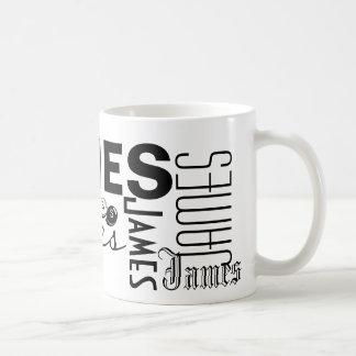 ジェームス-マグを個人化して下さい コーヒーマグカップ