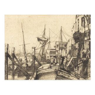 ジェームスAbbott McNeillのホイスラー- Limehouse ポストカード