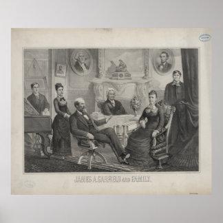 ジェームスABRAMガーフィールドおよび家族大統領 ポスター