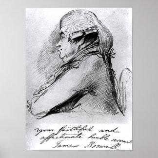 ジェームスBoswell、c.1790-95 ポスター