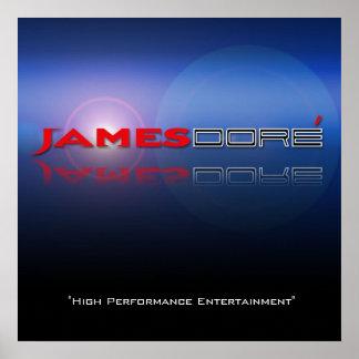 """ジェームスDoreのロゴの青いlenseの火炎信号""""HPE """" ポスター"""