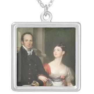 ジェームスDunlop氏および夫人 シルバープレートネックレス