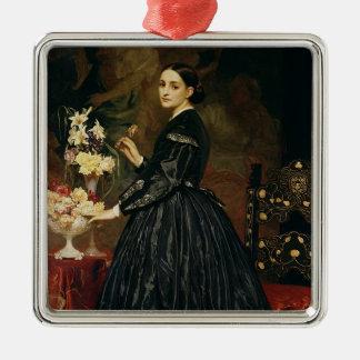 ジェームスGuthrie、c.1864-5 (キャンバスの油)夫人 メタルオーナメント