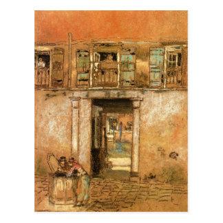 ジェームスMcNeillのホイスラーによる中庭そして運河 ポストカード