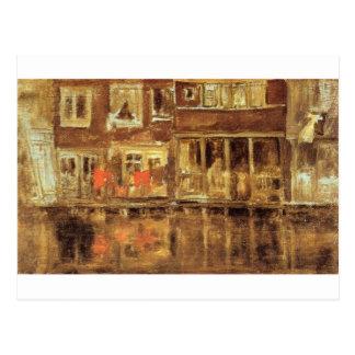 ジェームスMcNeillのホイスラーによる運河 ポストカード