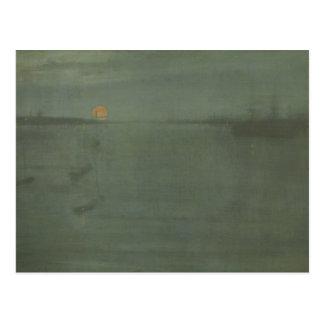 ジェームスMcNeillのホイスラー-ノクターンの青および金ゴールド ポストカード