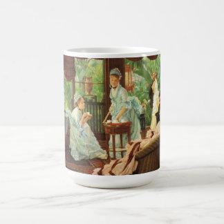 ジェームスTissotのビクトリアンなお茶会のマグ コーヒーマグカップ