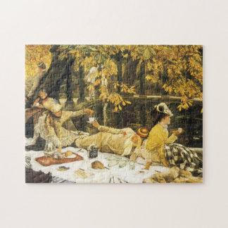 ジェームスTissotのビクトリア時代の人の芸術によるHolyday (ピクニック) ジグソーパズル