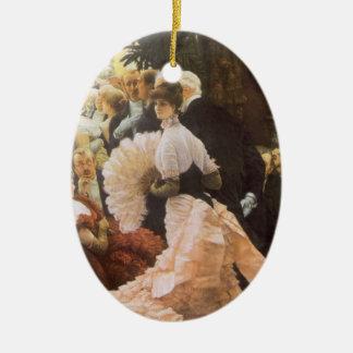ジェームスTissotのヴィンテージのビクトリア時代の人著政治女性 セラミックオーナメント