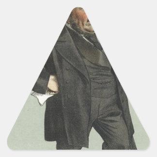 ジェームスTissot著ジョンPenderの風刺漫画 三角形シール