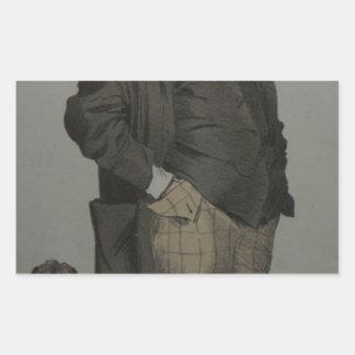 ジェームスTissot著ヘンリーのColeの風刺漫画 長方形シール