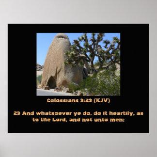 ジェームスVersion KJV Trust Colossiansの3:23王愛 ポスター