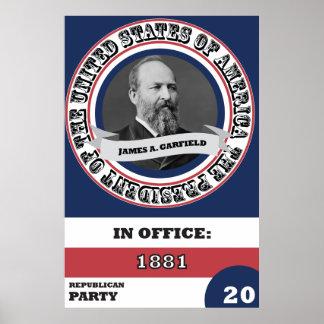 ジェームズ・ガーフィールドの大統領のな歴史 ポスター