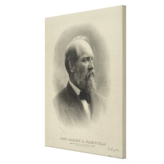 ジェームズ・ガーフィールド大統領概要のポートレート キャンバスプリント
