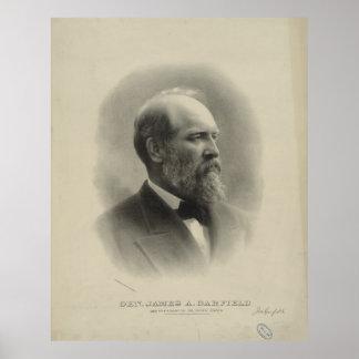 ジェームズ・ガーフィールド大統領概要のポートレート ポスター