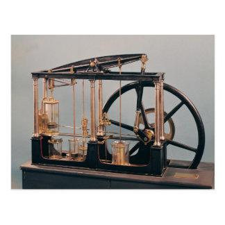 ジェームズ・ワットの蒸気機関の復元 ポストカード