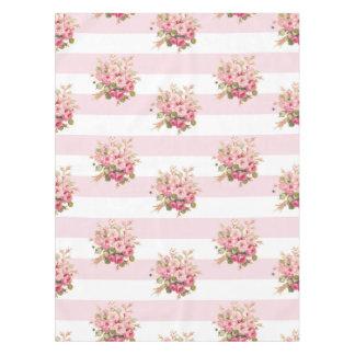 ジェーンのばら色の花束のシャクヤクのストライブ柄のシャワー・カーテン テーブルクロス