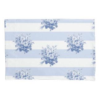 ジェーンのばら色の花束のブルーベリーの標準の枕カバー 枕カバー