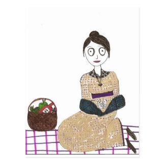 ジェーン気色悪いAustenのピクニック ポストカード
