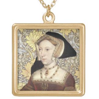 ジェーン・シーモアPortait女王のネックレス ゴールドプレートネックレス