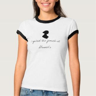 ジェーンAustenのシルエットの信号器のティー: 入った穿孔器 Tシャツ