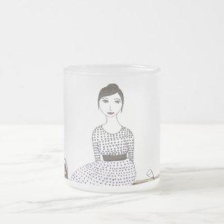 ジェーンAustenのピクニック フロストグラスマグカップ