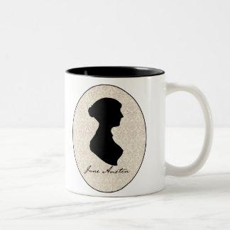 ジェーンAustenのプロフィールのシルエット ツートーンマグカップ