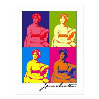 ジェーンAustenのポップアート ポストカード