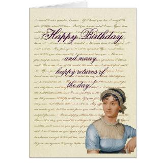ジェーンAustenの引用文はあなた自身のバースデー・カードを書きます カード
