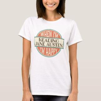 ジェーンAustenの愛書家の読書レディースTシャツ Tシャツ
