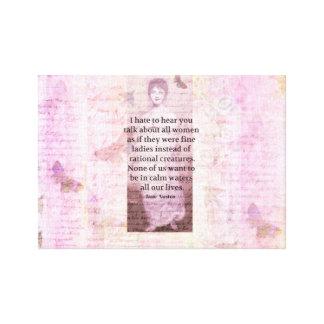 ジェーンAustenの感動的な引用文の権限委譲の女性 キャンバスプリント