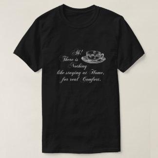 ジェーンAustenの文字の家および茶Tシャツ Tシャツ