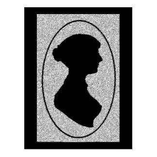 ジェーンAustenの新しいシルエット ポストカード